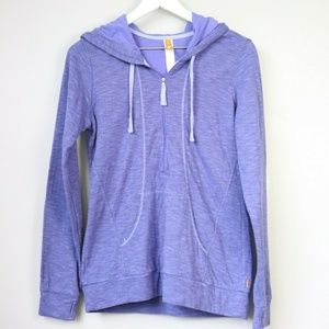 LUCY Activewear Purple Full Zip Hooded Sweater